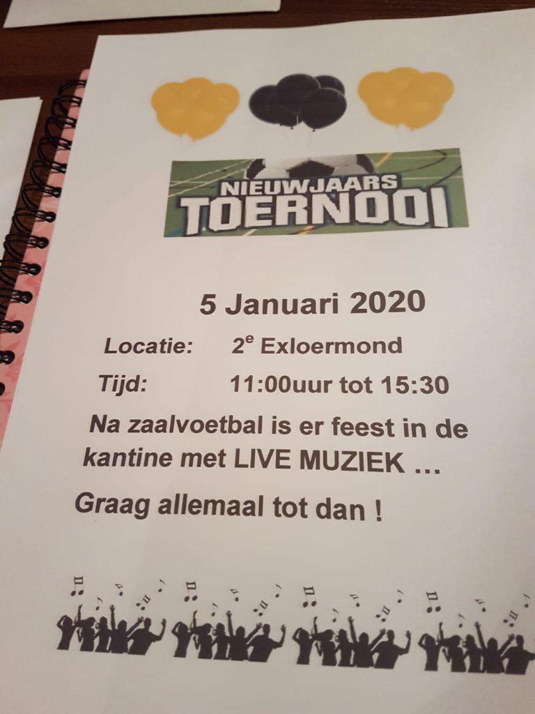 Nieuwjaarstoernooi met aansluitend nieuwjaarsfeest in de kantine @ Hunsowhal 2e Exloermond